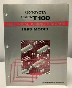 1993 Toyota T100 Truck Electrical Wiring Diagram Oem