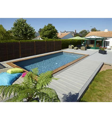 piscine hors sol maeva 800 en bois rectangulaire finition