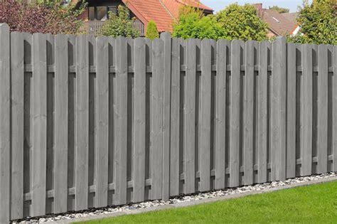 Sichtschutz Garten Holz 90 X 180 by Sichtschutzzaun Bohlenzaun Schr 228 Gelement Holz Ki Grau