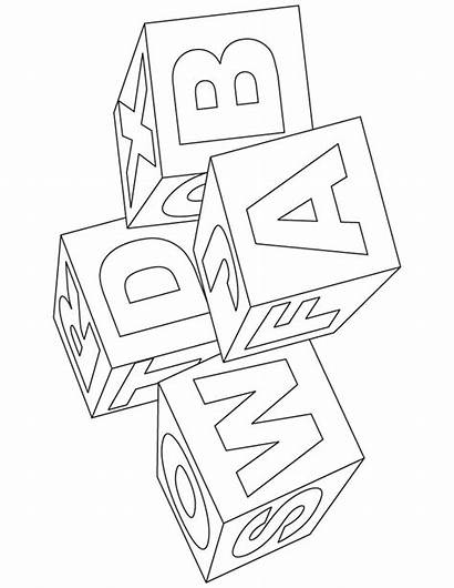 Coloring Block Alphabet Pages Cruise Ship Blocks