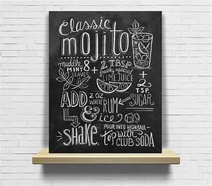 Tableau Ardoise Cuisine : tableau recette cocktail mojito cuisine ardoise tableau craie cocktails decoration and as ~ Teatrodelosmanantiales.com Idées de Décoration