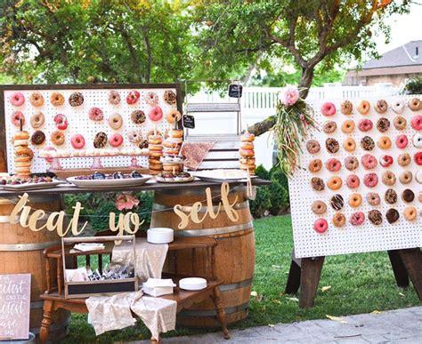 irresistible wedding donut ideas  guests  love