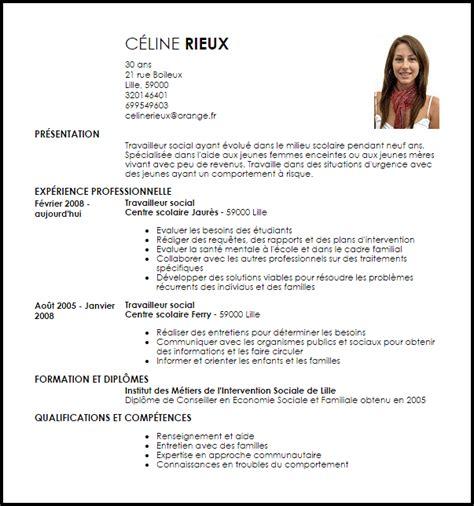 Cv De Travail by Exemple De Cv Travailleur Social Exemples Mod 232 Les De Cv