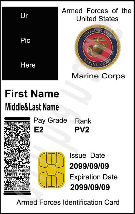 Deploying members with orders whose expiration date is within the dependent military id card. Free EMS to USA custom personalized ur pic us marine corps 1 movie id cards + 1 card case ...