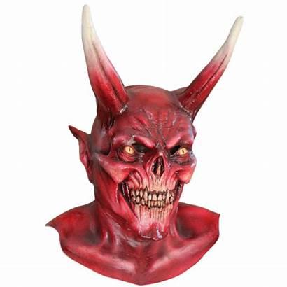 Devil Mask Costume Halloween Satan Diablo Skull
