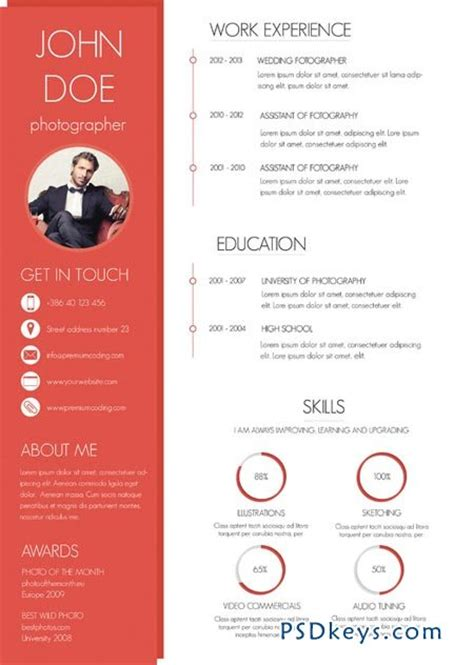 Free Colorful Resume Templates by A Colorful And Modern Resume 47549 187 Free Photoshop Vector Stock Image Via Torrent