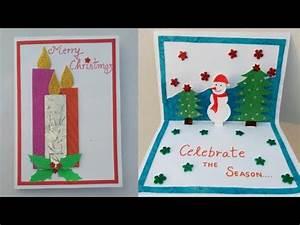 DIY Christmas card Making popup Christmas card for kids