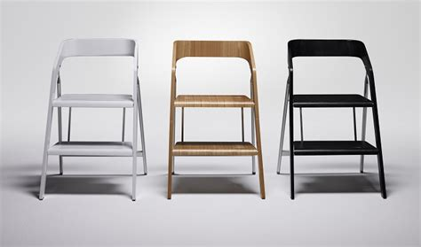 usit contemporary step ladder that doubles as a stool