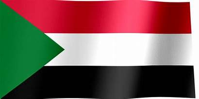 Sudan Flag Animated Waving Flags Khartoum Republic
