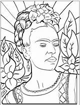 Coloring Pages Famous Painting Frida Printable Artists Picasso sketch template