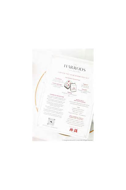 Tea Harrods Afternoon Chinese Lucky Menu