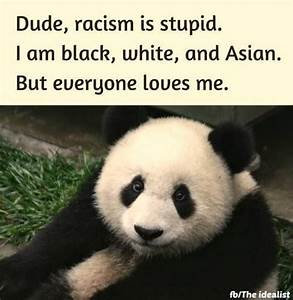 Dude, racism is stupid. I am black, white, and Asian. But ...