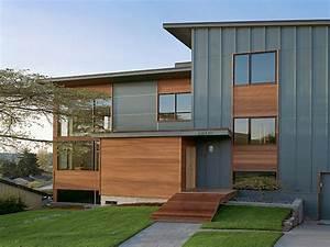 Prairie style exterior doors, hardie board vertical siding