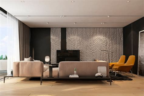 Apartement Living Room : Two Apartments With Texture