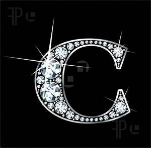 illustration of diamond letter quotcquot alphabet letter c With diamond letters