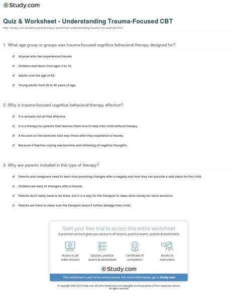 quiz worksheet understanding focused cbt