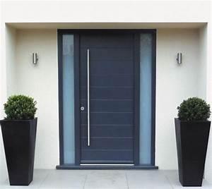 porte en bois moderne exterieur 20170818235008 arcizocom With porte d entrée alu avec mosaique salle de bain vert