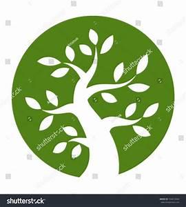 Green Tree Round Icon, Vector Illustration - 154612604 ...