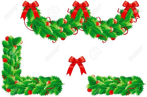 christmas greenry ornament border clipart   cliparts