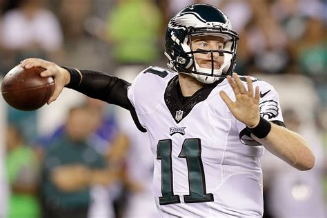 eagles news carson wentz   verge  making franchise