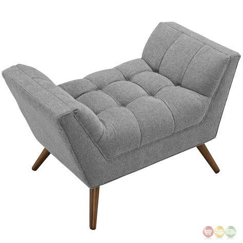 Upholstered Ottoman by Response Contemporary Button Tufted Upholstered Ottoman