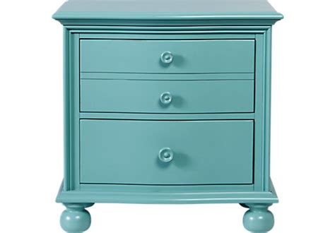 Blue Nightstand by Home Seaside Blue Green Nightstand