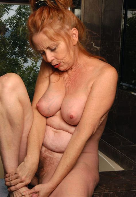 hot redhead granny bathing boobs pichunter