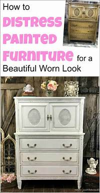 how to distress painted furniture How to Distress Painted Furniture for a Beautiful Worn Look