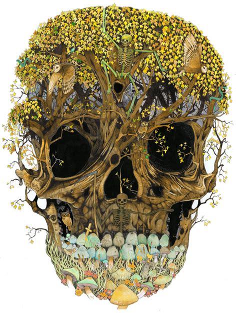 Art Bones Mushroom Skeleton Skull Image
