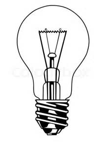 Electric Light Bulbs by Vector Light Bulb On White Background Stock Vector