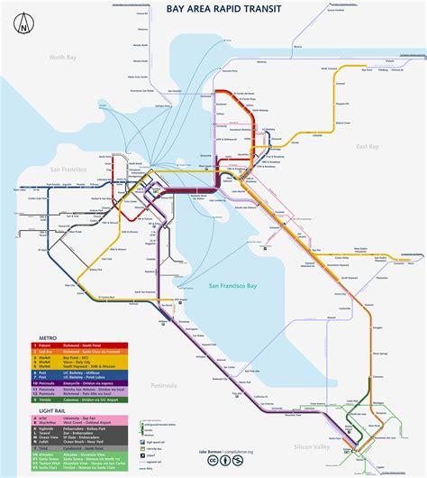 Carte Métro 2018 by Plan Metro San Francisco California Metro Plan Metro