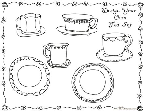 bnute productions tea party art activity ideas