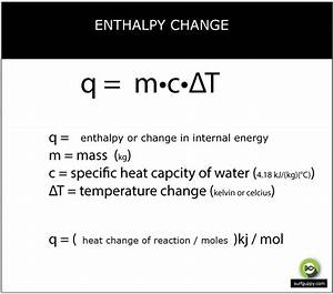 Example Of Enthalpy Change Calculation