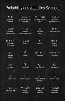 math poster probability  statistics symbols  math