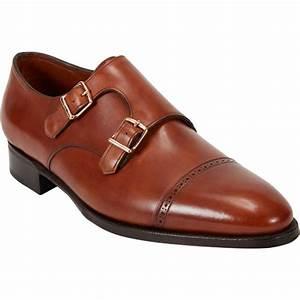 John Lobb Philip Ii Double Monk Shoe In Brown For Men