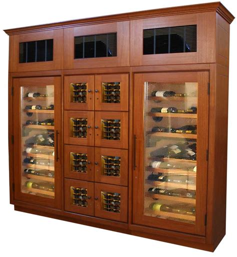 Refrigerated Wine Cabinet Furniture by Refrigerated Wine Cabinets Shop For Vigilant Woodworks