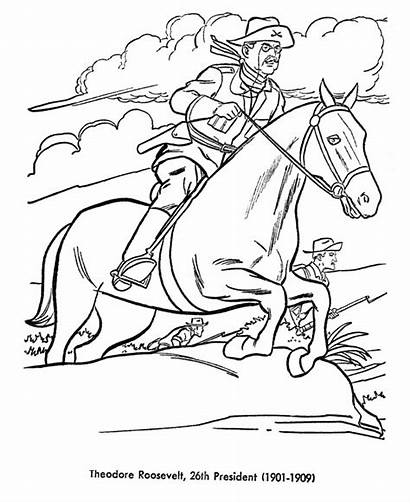 Roosevelt Theodore Coloring Pages Presidents Printable Teddy