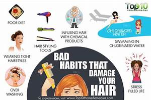 Top 10 Bad Habits that Damage Your Hair | Top 10 Home Remedies