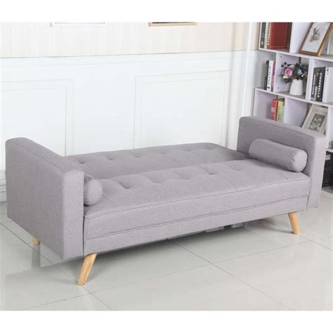 canapé convertible cocktail scandinave canapé convertible 3 places scandinave quot navya quot gris clair