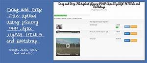 drag and drop file upload jquery php ajax html5 mysql and With upload documents mysql