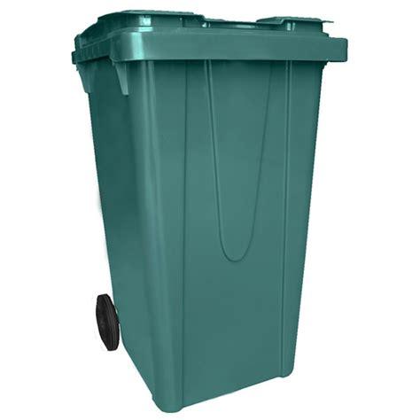 poubelle de cuisine verte poubelle verte en résine de 240 litres sur roues
