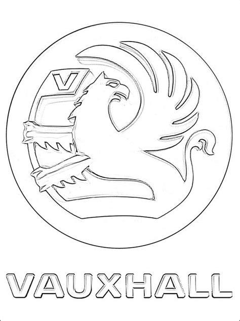 coloriage avec le logo vauxhall coloriage  imprimer gratuit