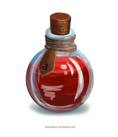 red potion    cherry juice bottle drawing
