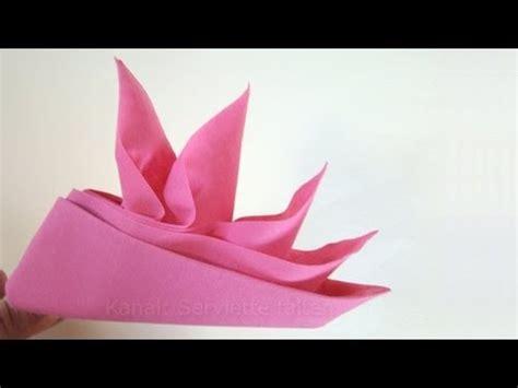 servietten falten bestecktasche einfach servietten falten anleitung schiffchen origami mit servietten
