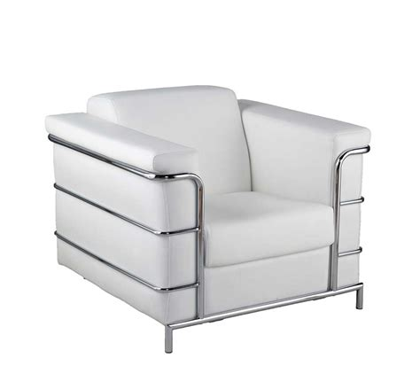 Fernsehsessel Modern Leder by Modern Leather Arm Chair Estyle 811 In White Accent Seating