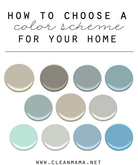 how to choose a color scheme for your home clean