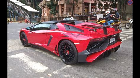 lamborghini aventador sv roadster price in india india s first lamborghini aventador sv roadster along with ferrari 488 gtb youtube