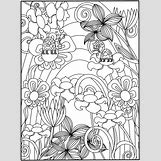 Flower Garden Coloring Pages For Kids   650 x 873 jpeg 185kB