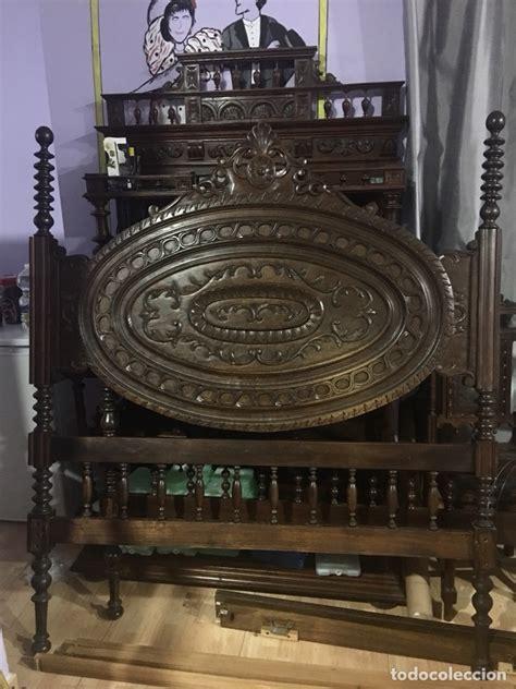 preciosa cama de madera tallada vendido en venta