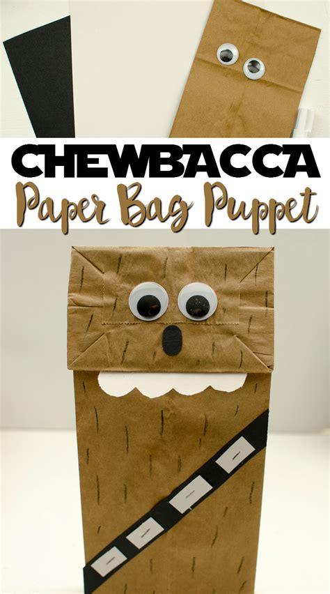 chewbacca paper bag puppet  grande life
